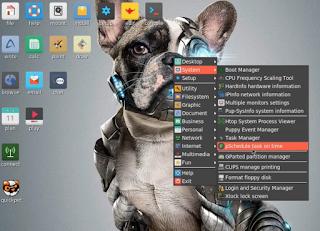 Membuka aplikasi Gparted di Puppy Linux