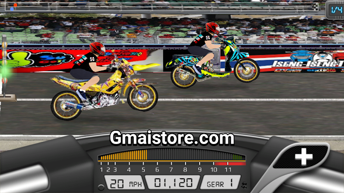Download Drag Racing Bike Edition (DRBE) MOD Thailook Indonesia APK android