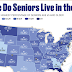 Where Do Seniors Live in the United States? #infographic