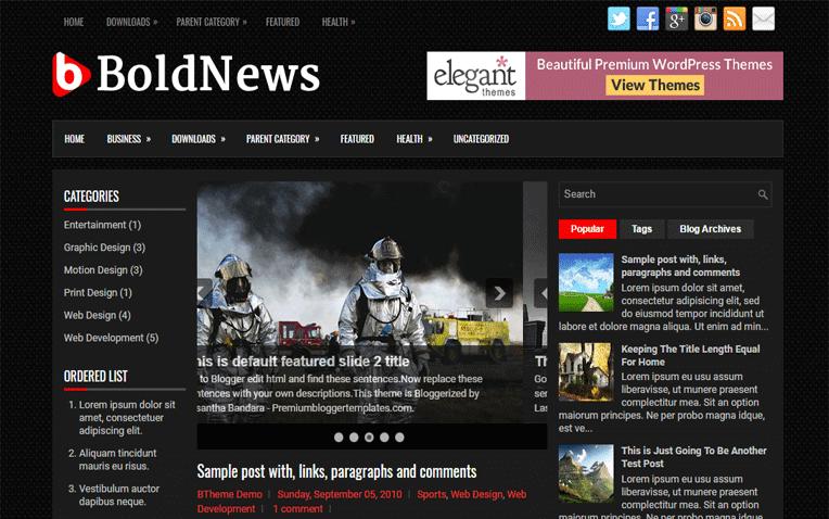 BoldNews Free Blogger Template