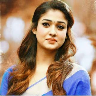 nayanthara simple sari look