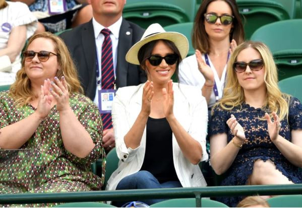 Meghan Markle makes surprise appearance at Wimbledon to support Serena Williams