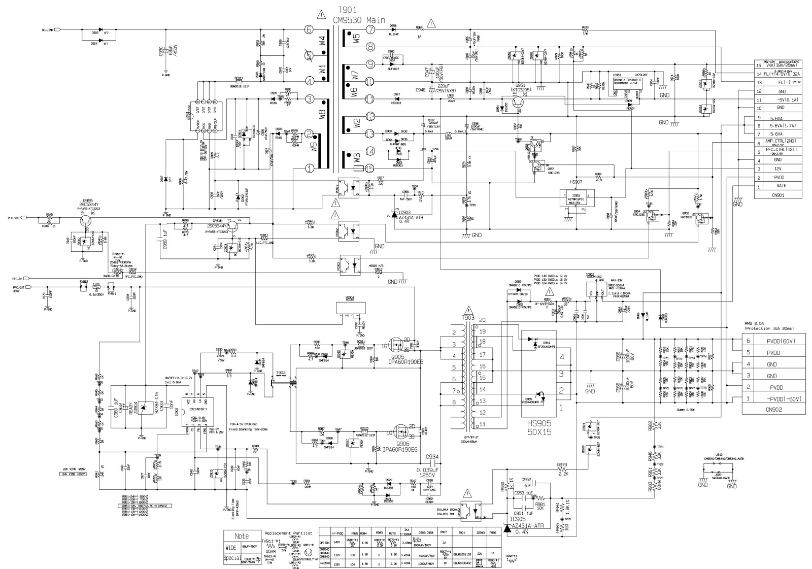 Lg Cm8340 Smps And Power Amplifier Circuit Diagram Software Update Amp Diagrams Cd Dsp Schematic