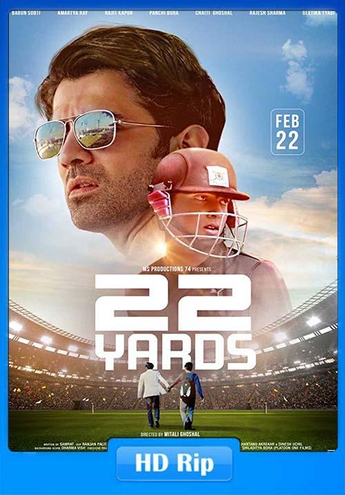 22 Yards 2019 Hindi 720p HQ HDTVRip x264   480p 300MB   100MB HEVC Poster