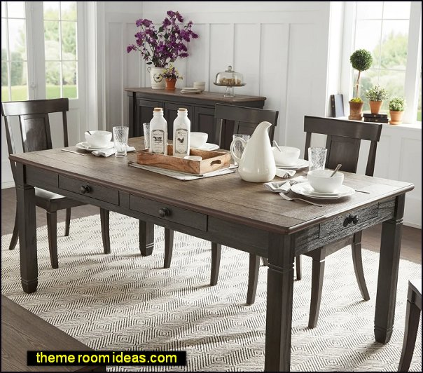 Gray Barn Gamgee Grange Brown and Antique Finish Dining Table