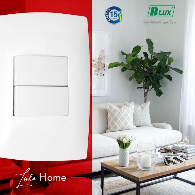 Tomadas Building Blux Home e Interruptores