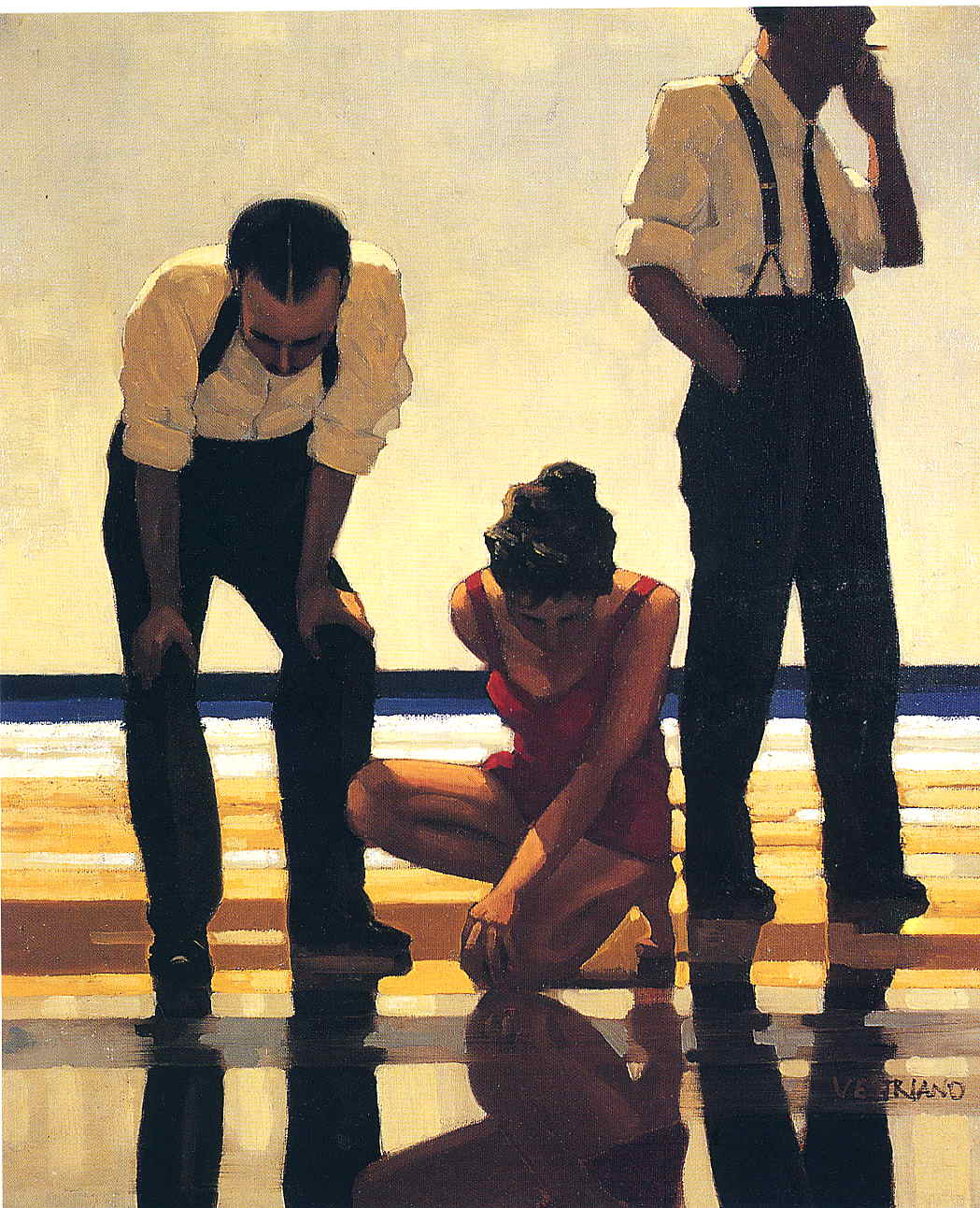 Jack  Vettriano  Narcissistic  bathers