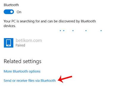 menerima file dari bluetooth