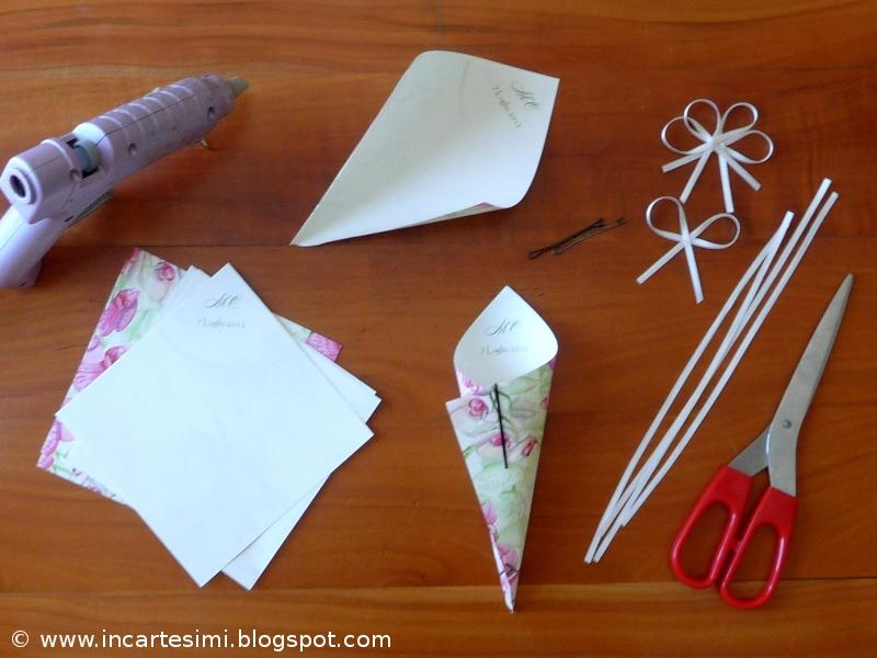 Favoloso Incartesimi: Coni portariso, portapetali o portaconfetti - Tutorial WU16