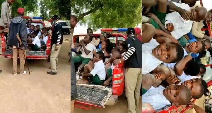 Amotekun arrests secondary school students for 'behaving like Naira Marley' [Video]