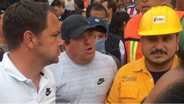 Emilio Azcárraga y 'Piojo' Herrera  se solidarizan, fueron voluntarios en Xochimilco