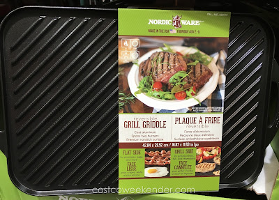 Make good food for your family with the Nordic Ware Reversible Grill Griddle