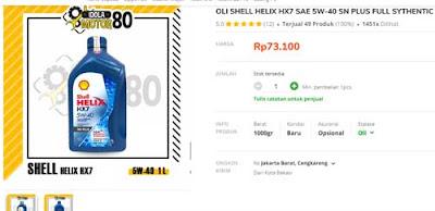 jenis merk oli shell rekomendasi untuk pcx nmax