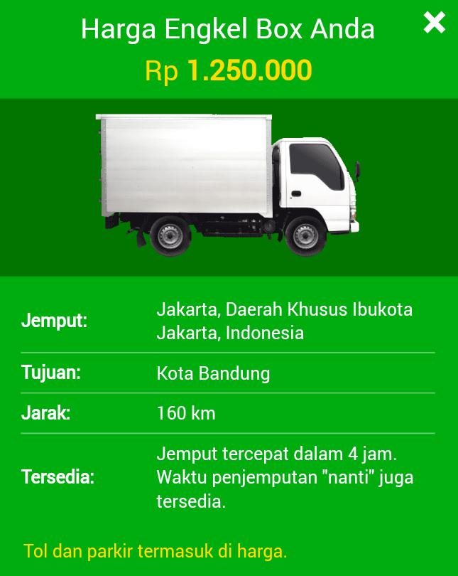 Harga sewa truk engkel box