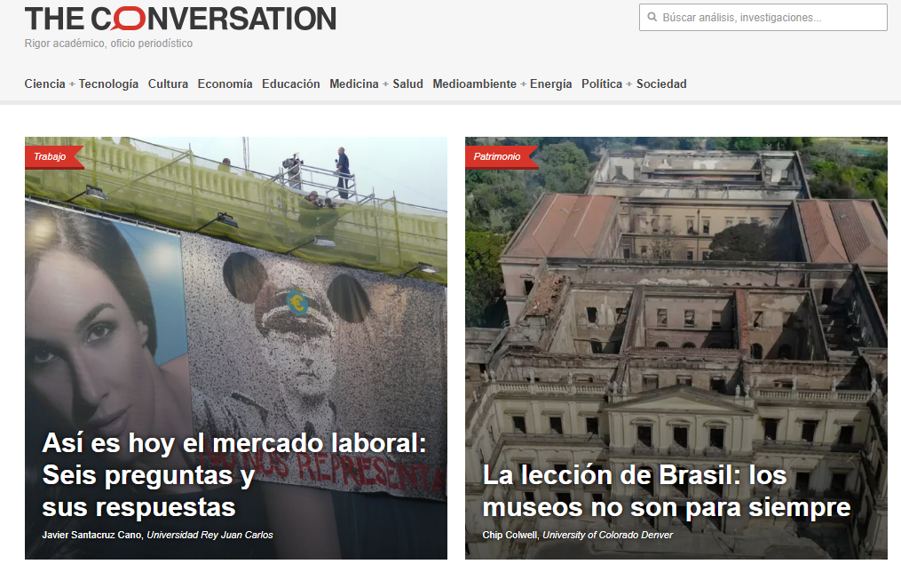 ConversationES Presentación The Conversation. \'La divulgación del ...