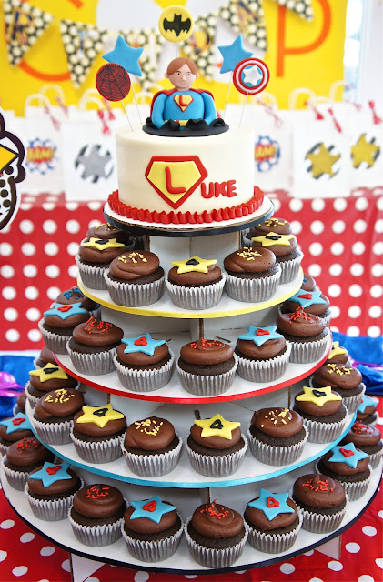 Superhero Cupcake Tower