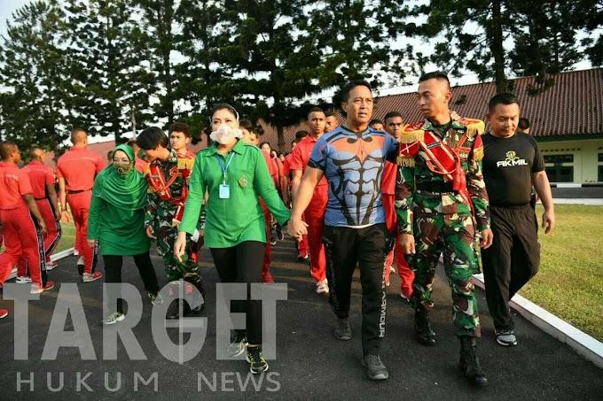 Olahraga Bersama Kasad di Akademi Militer