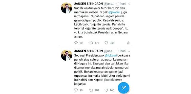 Politisi Demokrat: Jokowi, Kejar Itu Teroris Naik Chopper!