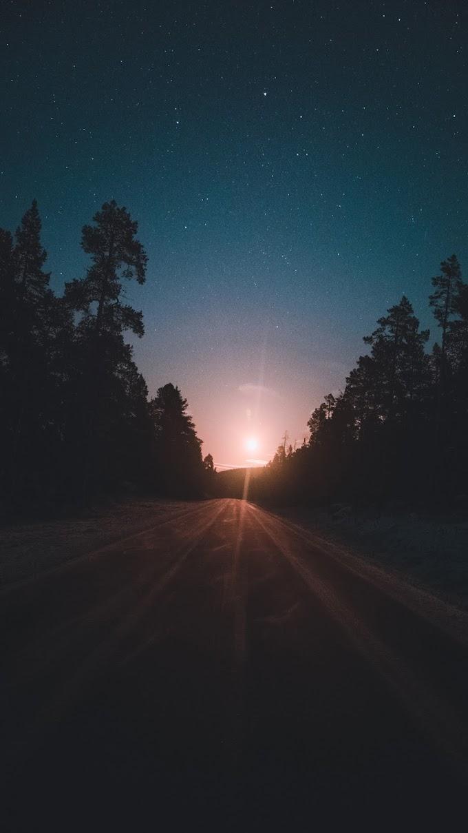 Wallpaper iPhone Pôr do Sol na Estrada