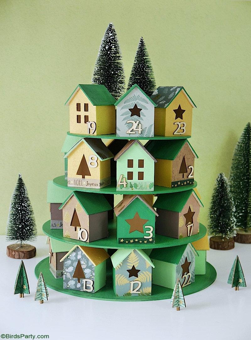 Calendrier de l'Avent DIY Village de Noël