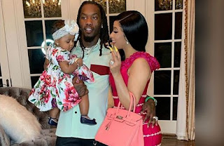Cardi Offset and Baby