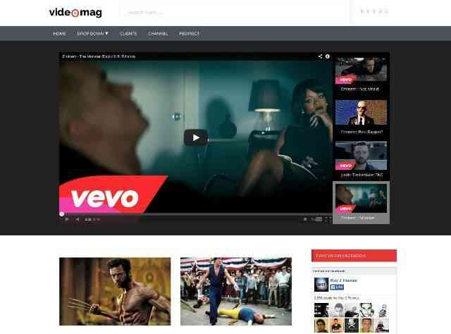Videomag Free Responsive Video Blogger Template