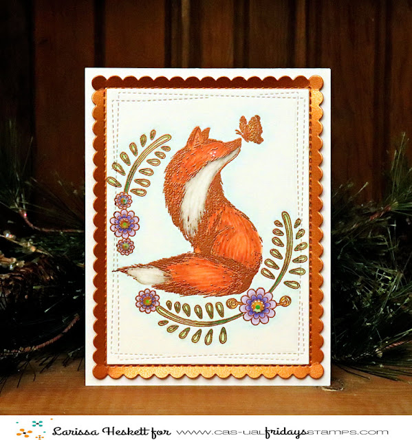 Thinking of You Foxy Friend by Larissa Heskett using Foxy Stamp Set by CAS-ual Fridays Stamps