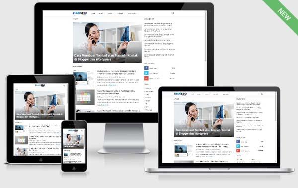 Rekomendasi Template Blogger Premium, Theme rianseo Simple dan Fast Loading