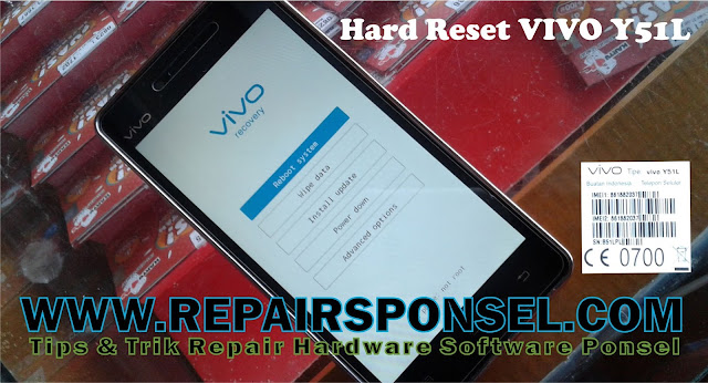 Hard reset Vivo Y51L via Recovery mode