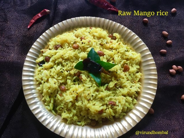 Raw Mango Rice | Mangai Sadham | How to prepare Raw Mango Rice Mangai Sadham with step by step instructions | Lunch box recipes
