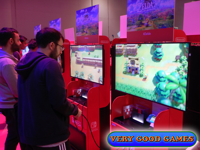 Photo report from the gaming event EGX 2019 in London - the game The Legend of Zelda: Link's Awakening for Nintendo Switch