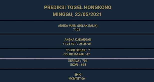 3 - PREDIKSI HONGKONG 23 MEI 2021