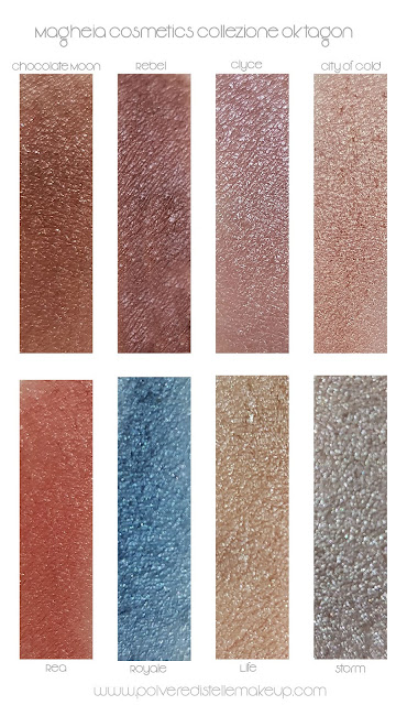 Collezione Oktagon Magheia Cosmetics swatches