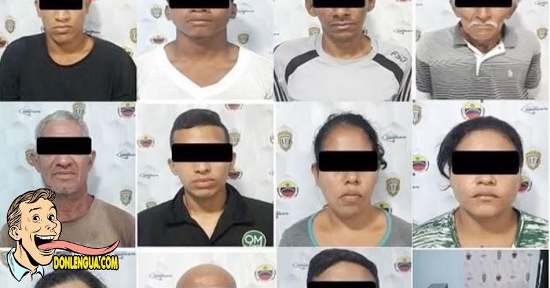 La mitad del pueblo : Detenidos 11 asaltantes en Nueva Esparta