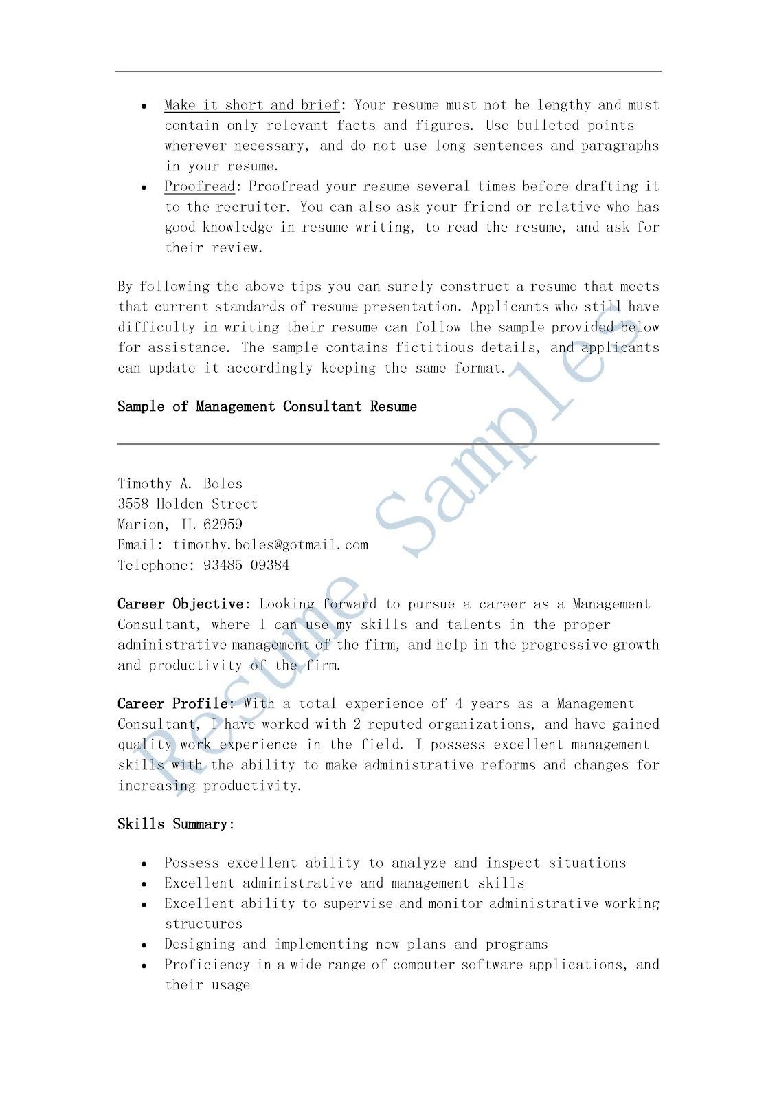 100 sle consulting resume mckinsey free mckinsey