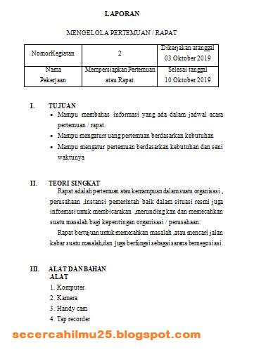Contoh Format Laporan Jobsheet Magang Siswa I Smk Secercah Ilmu
