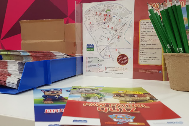 Blackburn #Brickburn Paw Patrol LEGO Trail Maps at Ask Me Point in the mall