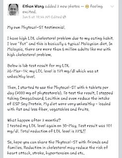Testimoni Phytocol ST untuk Kolestrol