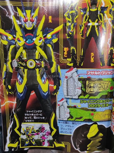 Kamen Rider Zero-One Shining Assault Hopper Scans!