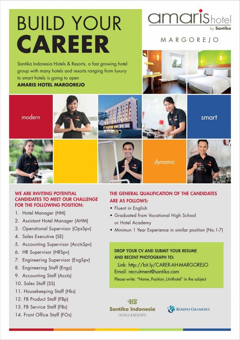Lowongan Kerja Santika Indonesia Hotels & Resorts Oktober 2016