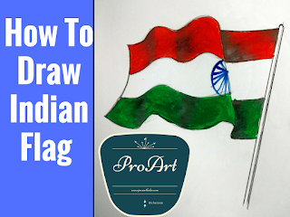 hlow to draw flag