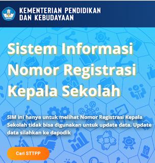 Cara Cek NRKS/NUKS Nomor Registrasi Kepala Sekolah  Terbaru