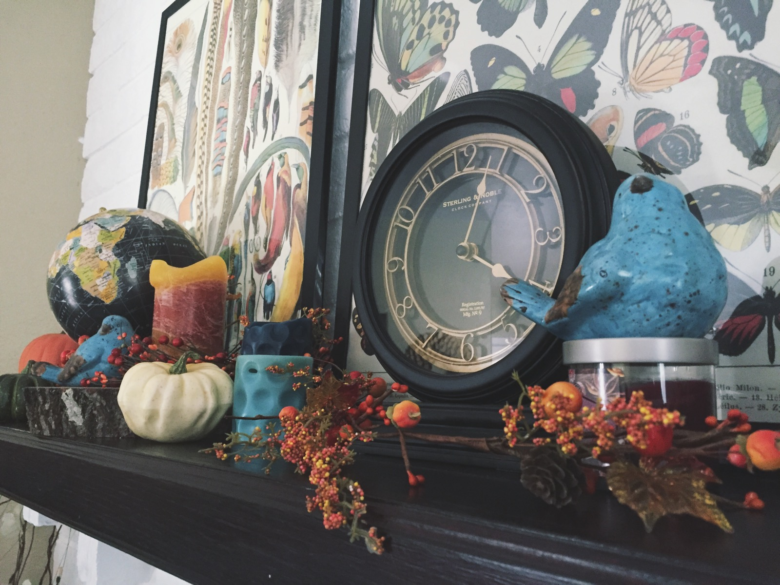 Living room summer to fall decor scribbles from emily Target clocks living room