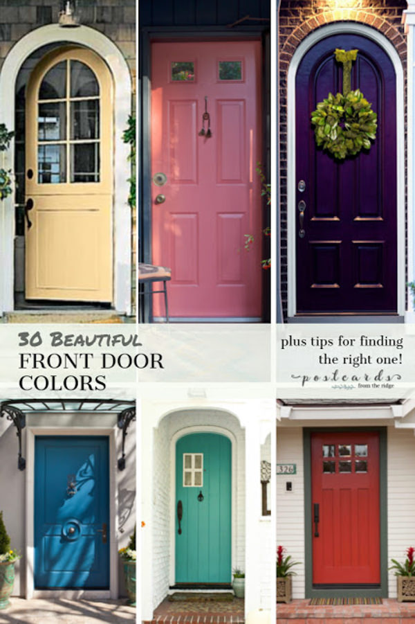 30 Front Door Colors with tips for choosing the right one ... on Door Color Ideas  id=25942