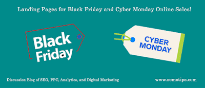 Black Friday and Cyber Monday Landing Pages