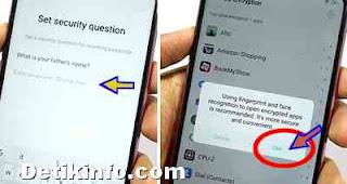pertanyaan keamanan pin aplikasi oppo