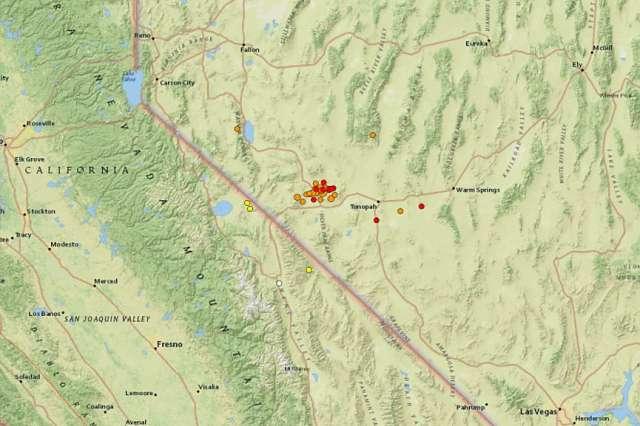 6.5 magnitude earthquake recorded near California-Nevada border rattles Bay Area