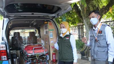 Jabar Bergerak Salurkan Bantuan Dua Unit Ambulans dan 14.000 Paket Sembako