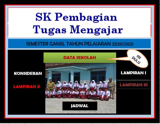 SK Pembagian Tugas Mengajar Guru Edisi Terbaru
