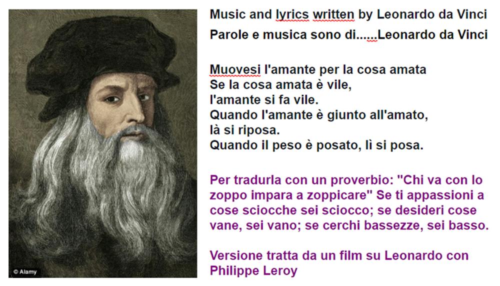 Roberto Soldati Scritti Servizi E Racconti Muovesi L Amante La Canzone Di Leonardo Da Vinci Rob